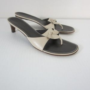 Cole Haan Slide Sandals Tan Kitten Heel Size 11M